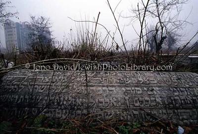 BULGARIA, Plovdiv. Jewish sector, Plovdiv General Cemetery. (2004)
