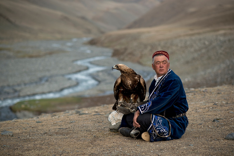 Mr Shamurat was born in a yurt, and has never known a different way of life. His parents were also nomads, but it was his uncle who introduced him to eagle hunting when he was just a boy. It quickly became his passion. Mr Shamurat is well known in the area for having won the national eagle hunting competition twice in Mongolia and once in Russia.