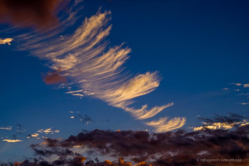 Maui clouds at sunset