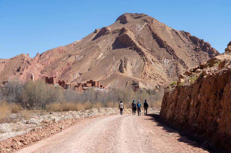 Walking in M'goun Valley, Morocco