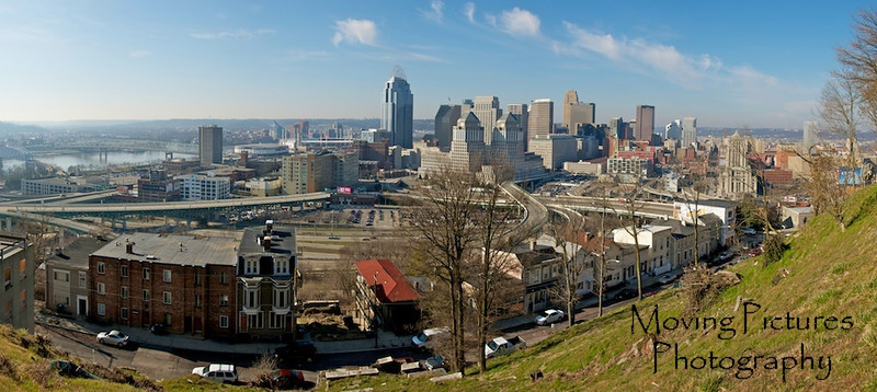Cincinnati Skyline - view from Mt Adams