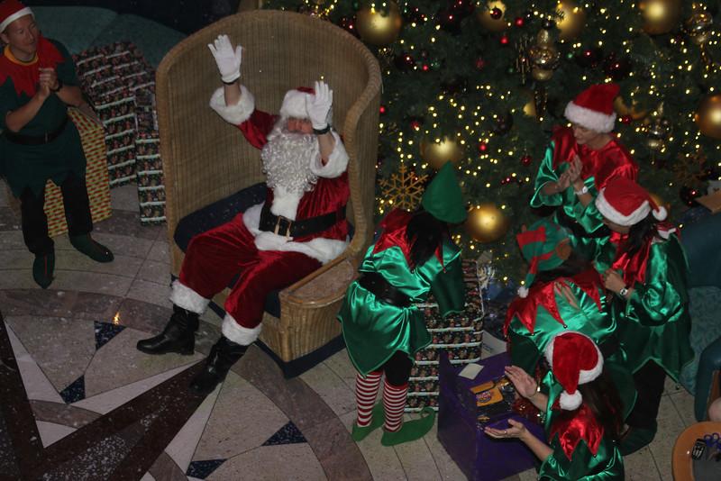 Santa had a black mustache