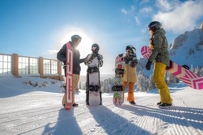 Feb 16 Marketing Shoot Snow Sports Snowboard Family