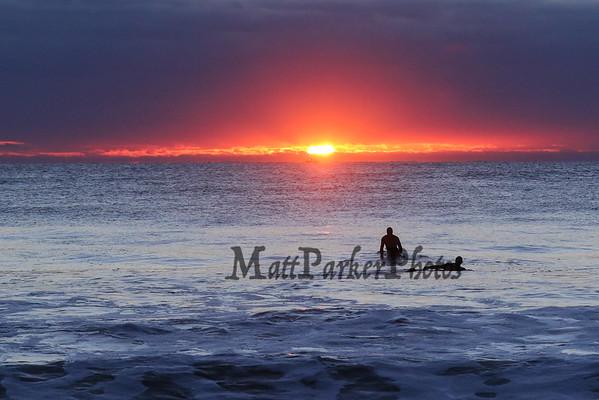 2016-11-10 Surfing at Sunrise Hampton Beach