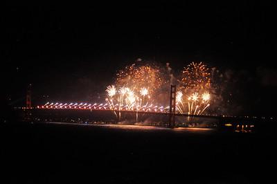 Golden Gate Bridge 75th Anniversary Fireworks 5.27.2012