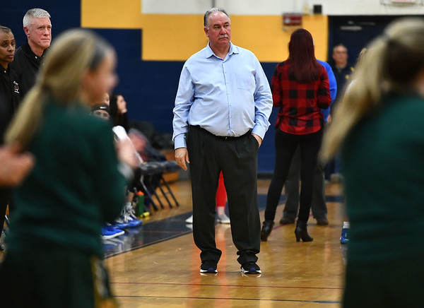 2/26/2020 Mike Orazzi | StaffrSt. Paul Catholic High School's Joe Mone during Wednesday night's CCC girls basketball tournament at Kennedy High School in Waterbury.