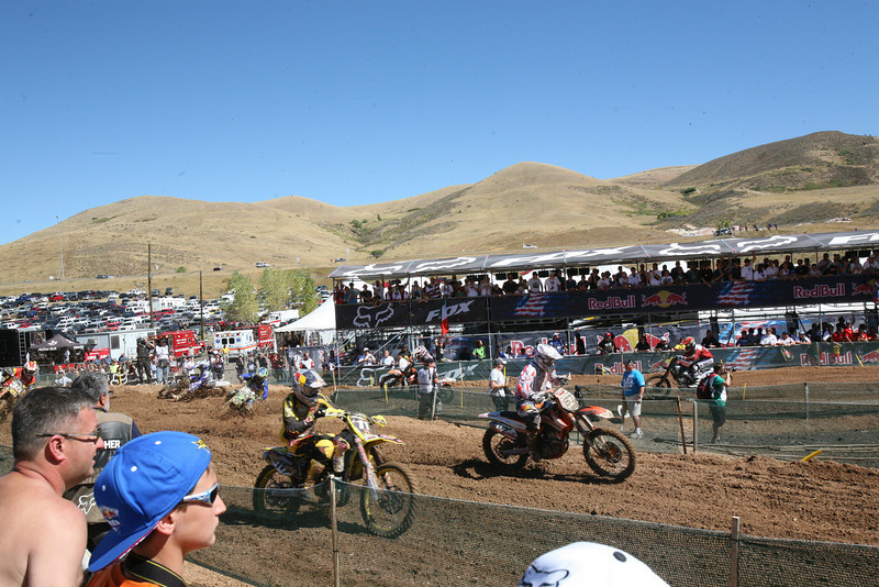 Roczen in the back of the pack