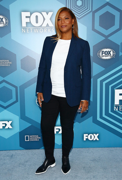 . NEW YORK, NY - MAY 16:  Actress Queen Latifah attends FOX 2016 Upfront Arrivals at Wollman Rink, Central Park on May 16, 2016 in New York City.  (Photo by Astrid Stawiarz/Getty Images)