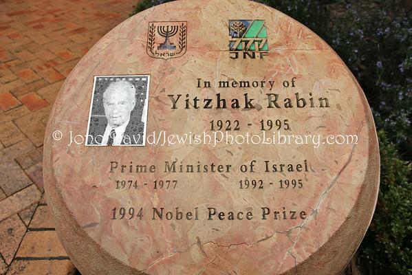 NEW ZEALAND, Wellington. Yitzhak Rabin memorial. (8.2010)