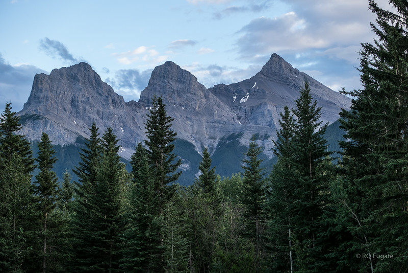 The Three Sisters in Canmore.
