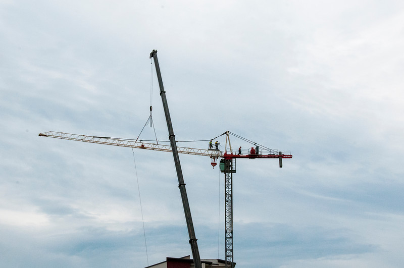 Erecting a Tower Crane. #34. of a 33+ Shot Photo series.