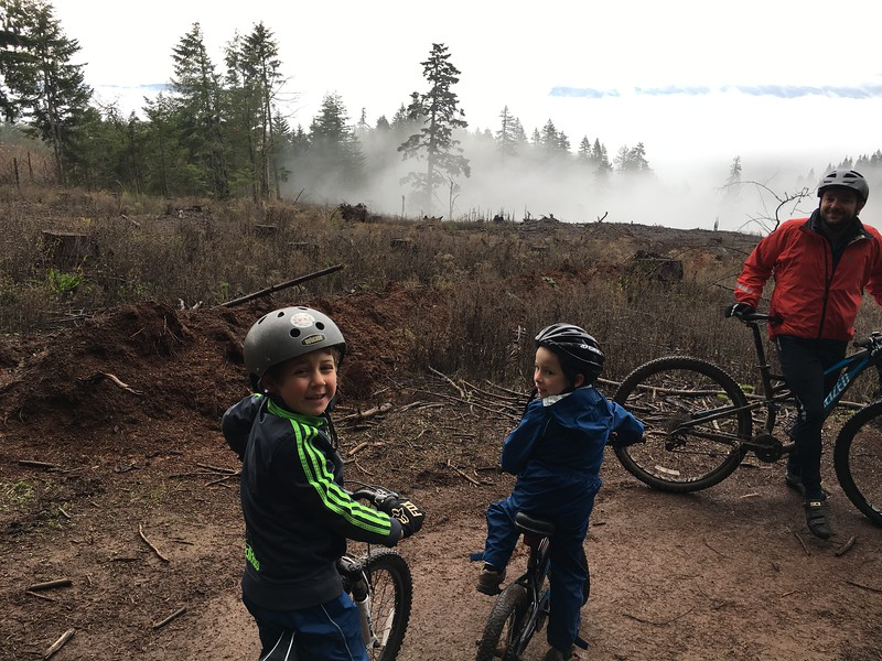 biking with Lev and Judah at Post Canyon