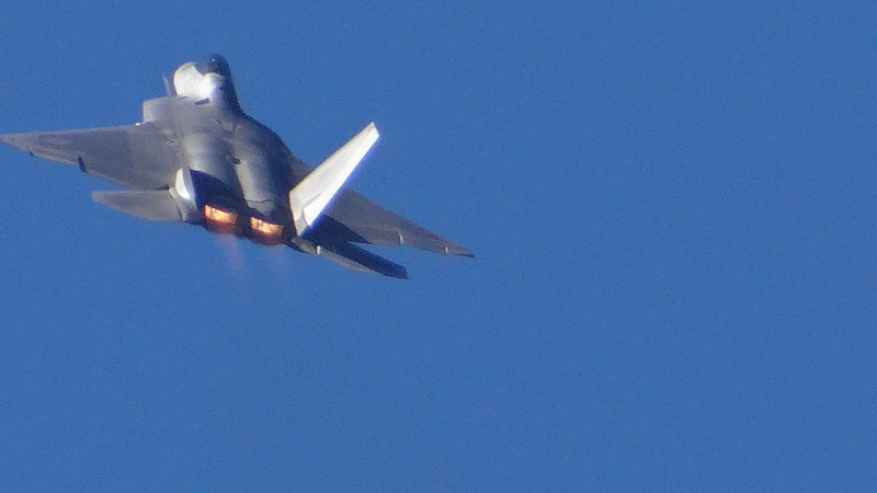 Lockheed Martin/Boeing F-22 Raptor, this was star of the show for me