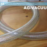 SKU: AG-VACUUM/45, Φ45mm Clear Polyurethane Flexible Vacuum Hose with Reinforced Steel Wire