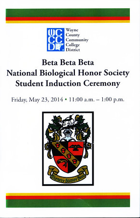 WCCCD Beta Beta Beta National Biological Honor Society Student Induction Ceremony