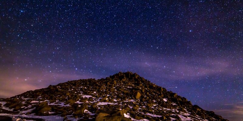 Mount Evans Peak at Night