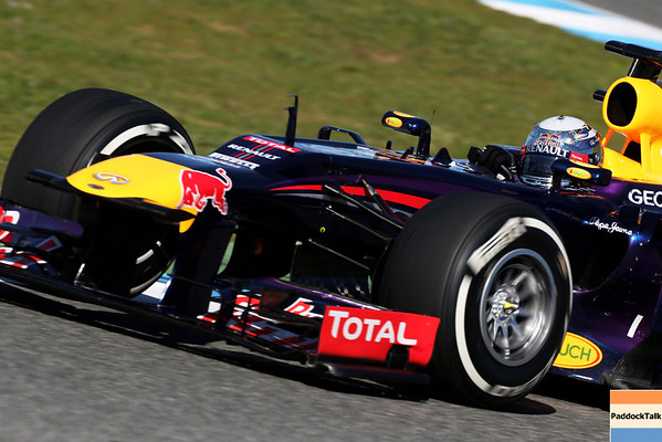 GEPA-07021399023 - FORMULA 1 - Testing in Jerez. Image shows Sebastian Vettel (GER/ Red Bull Racing). Photo: Getty Images/ Mark Thompson - For editorial use only. Image is free of charge