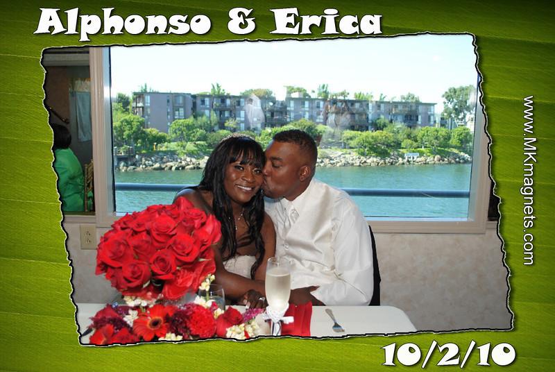 wedding magnet frame -olive Green.jpg