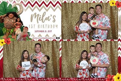 Mila's 1st Birthday (Mini LED Open Air Photo Booth)