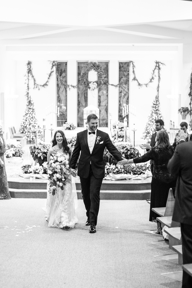 New Year's Eve wedding ceremony photos at St. Elizabeth's Catholic Church in Rockville.