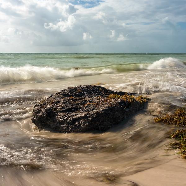 Waves at the Shore, Bahia Honda Key, Florida  (39781)