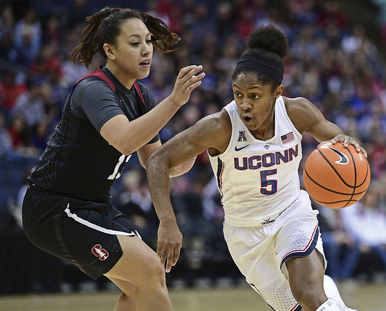 UConn's Crystal Dangerfield 11-12