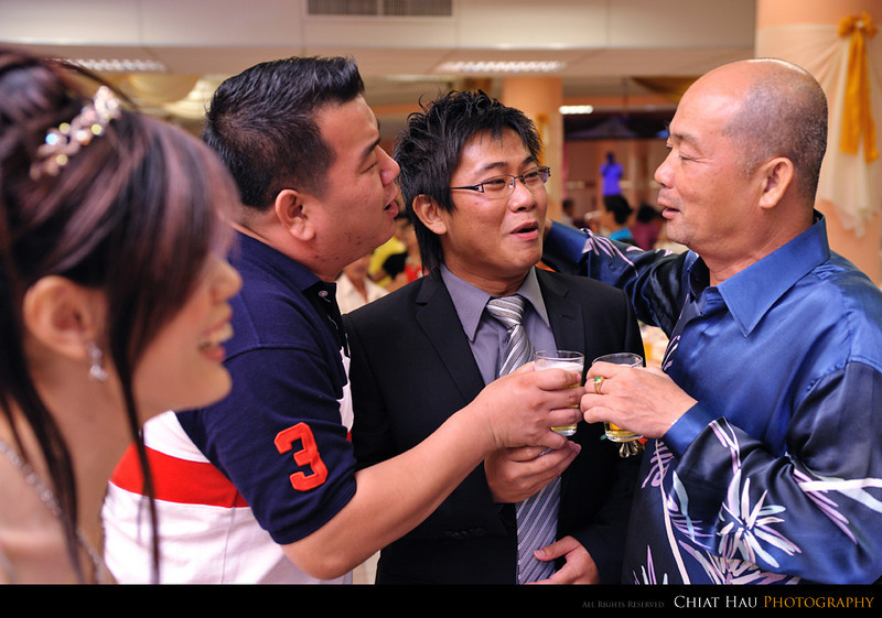 some chit chat with Wei's boss