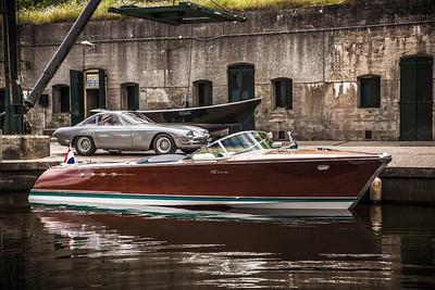 "Lamborghini ""Riva Aquarama"" Dual V-12 Wodden power boat"