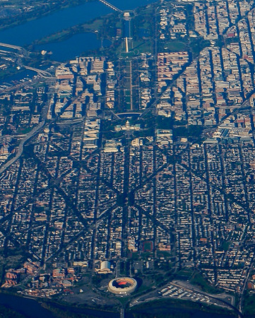 The National Mall from 30,000 ft