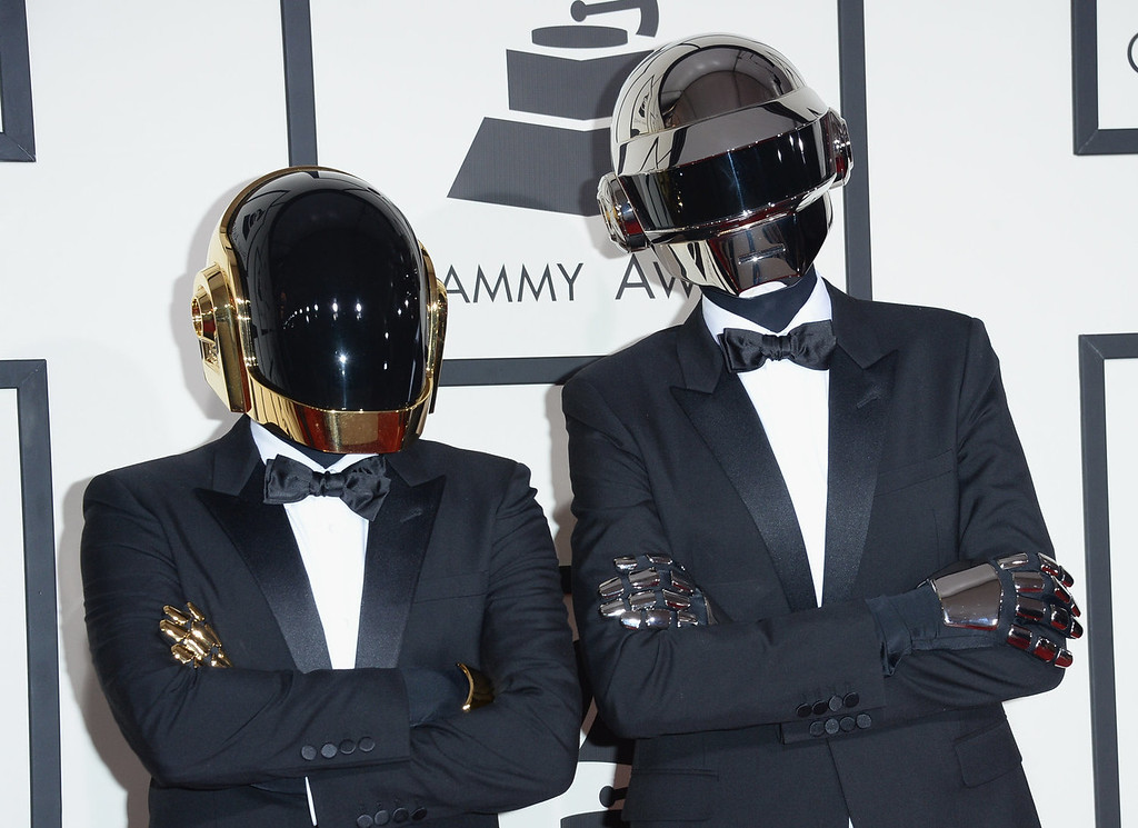 . Guy-Manuel de Homem-Christo (L) and Thomas Bangalter of Daft Punk attend the 56th GRAMMY Awards at Staples Center on January 26, 2014 in Los Angeles, California.  (Photo by Jason Merritt/Getty Images)