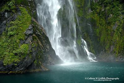 Waterfalls And Ocean