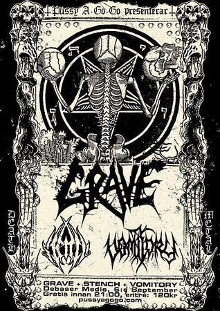(Grave + Stench + Vomitory) Debaser Medis 6/9 2013
