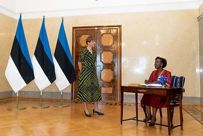 Entretien avec la Présidente de la République d'Estonie, Mme Kersti Kaljulaid - Tallinn