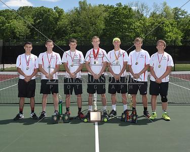 Milton Boys Tennis Group Shots