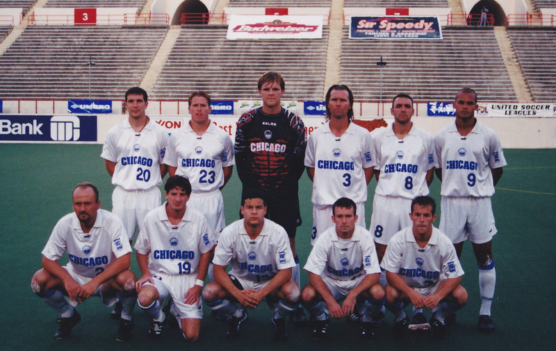 The 1999 PDL Champion Chicago Sockers starting lineup for the semifinal vs Westchester. The Shadow played host to the Final Four and finished runners-up.