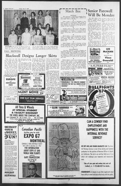 Daily Trojan, Vol. 58, No. 118, May 05, 1967