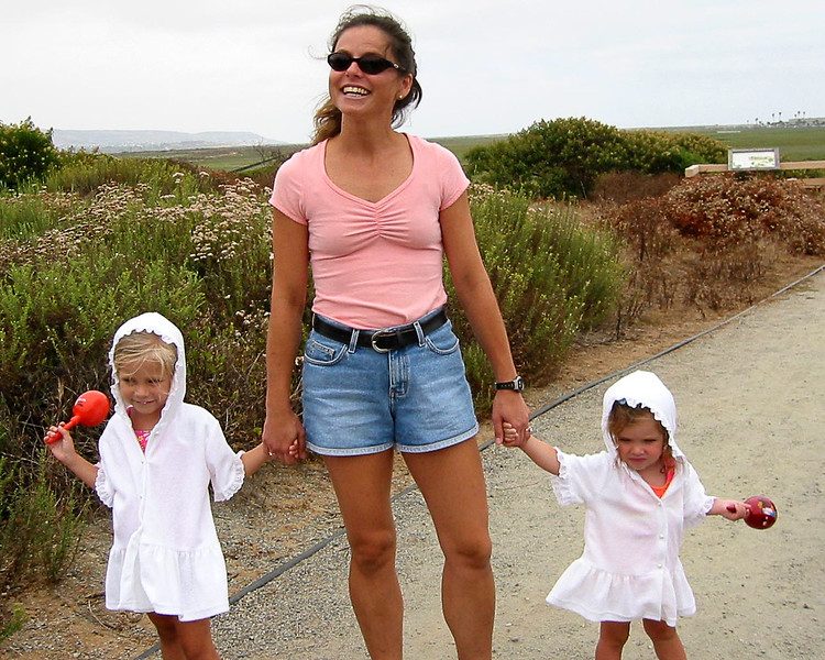 SD--MA- girls in robes at estuary.jpg
