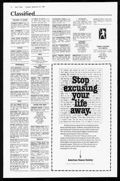 Daily Trojan, Vol. 89, No. 7, September 23, 1980