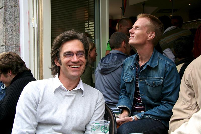 Flemming and Kristoffer outside Oscar