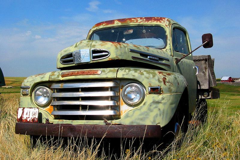 Old truck at Pioneer Acres in Irricana, Alberta.
