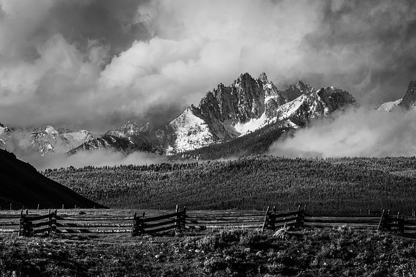 Stanley, Idaho in Black and White