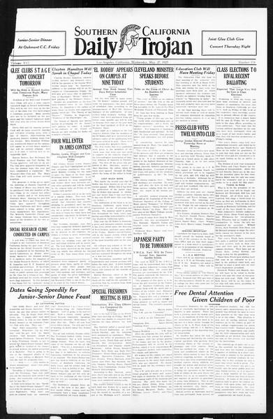 Daily Trojan, Vol. 16, No. 114, May 27, 1925