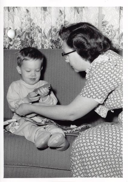 David, Frankie, Christmas 1955