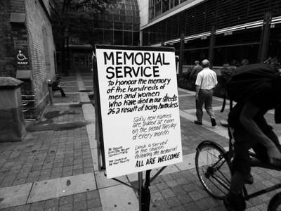 Homeless Memorial Vigil - July 2013