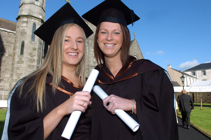 Provision 261006 Michelle Curry and Linda Dalton from New Ross, Wexford both graduated with a BA (Hons) in Recreation and Leisure from WIT yesterday (Weds). PIC Bernie Keating/Provision