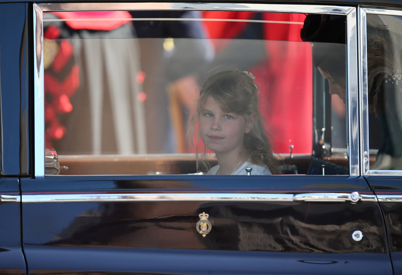 . Lady Louise Windsor leaves a service of celebration to mark the 60th anniversary of the Coronation Queen Elizabeth II at Westminster Abbey on June 4, 2013 in London, England.  The Queen\'s Coronation took place on June 2, 1953 after a period of mourning for her father King George VI, following her ascension to the throne on February 6, 1952. The event 60 years ago was the first time a coronation was televised for the public.  (Photo by Dan Kitwood/Getty Images)