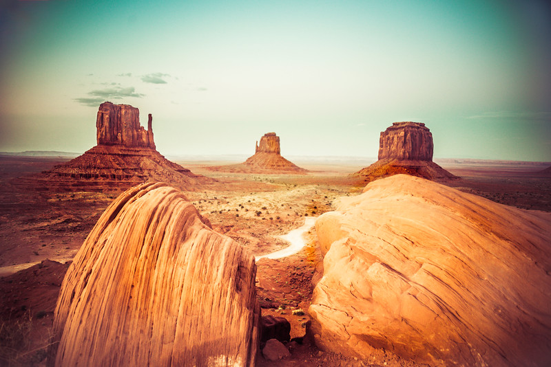 Moab Sunset Monument Valley foreground Rock.jpg