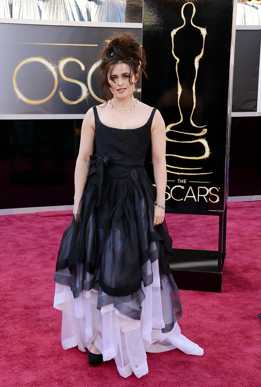 . Actress Helena Bonham Carter arrives at the Oscars at Hollywood & Highland Center on February 24, 2013 in Hollywood, California.  (Photo by Jason Merritt/Getty Images)
