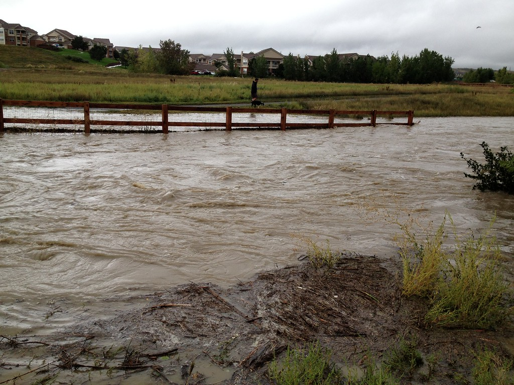 . A newly created river in rock creek during the colorado flooding. Photo by Taylor Julia Mallory