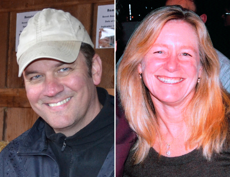 . This combo made from undated photos released by the Clackamas County Sheriff\'s Dept. shows Oregon mall shooting victims  shows Steven Mathew Forsyth, 45, of West Linn, Ore., left, and Cindy Ann Yuille, 54, of Portland, Ore. The gunman who killed two people and himself in a shooting rampage on Tuesday, Dec. 11, 2012 was 22 years old and used a stolen rifle from someone he knew, authorities said Wednesday.   (AP Photo/Clackamas County Sheriff\'s Dept.)